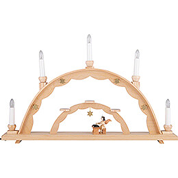 Candle Arch - Angel at the Zither and Electric Lights - 55x32 cm / 21.7x12.6 inch