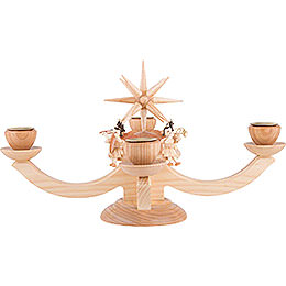 Candle Holder - Four Sitting Angels - 38x38x20 cm / 11x11x7.9 inch