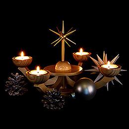 Adventsleuchter mit Teelichhalter ohne Engel - 38x38x20 cm