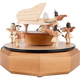 Spieldose mit Engel am Flügel - 21x18 cm