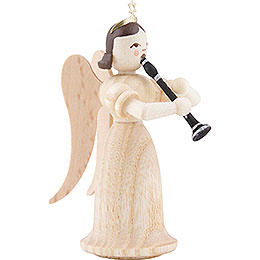 Angel Long Skirt with Clarinet, Natural - 6,6 cm / 2.6 inch