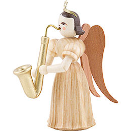 Long Pleated Skirt Angel with Saxophon, Natural - 6,6 cm / 2.6 inch
