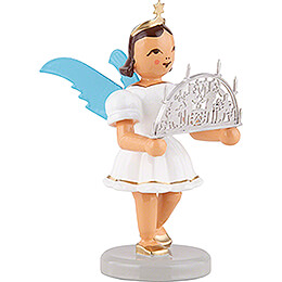 Angel Short Skirt Colored with Candle Arch - 6,6 cm / 2.6 inch