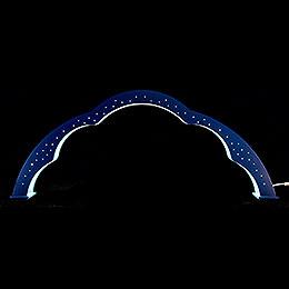 Wolkenbogen farbig mit LED - 28 cm