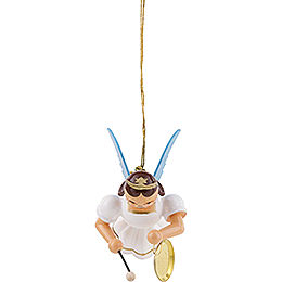 Floating Angel with Gong, Colored - 6,6 cm / 2.6 inch