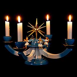 Adventsleuchter mit 4 sitzenden Engeln - 38x38 cm