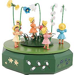 Spieldose mit Blumenwiese - 21x18 cm