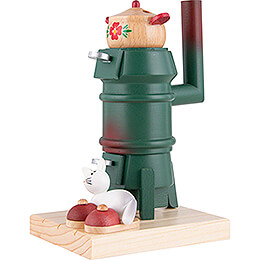 Smoking Stove - Cat - Green - 14,5 cm / 5.7 inch