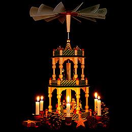 3-Tier Pyramid - Nativity - Colored - 46 cm / 18.1 inch