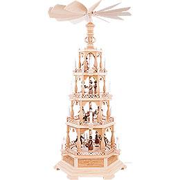 4-Tier Pyramid - The Christmas Story - 122 cm /48 inch - 230 V Electr. Motor