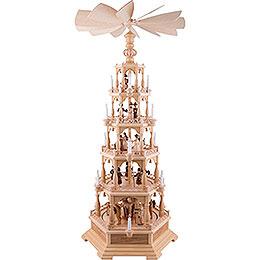 5-Tier Pyramid - The Christmas Story - 142 cm / 56 inch - 120 V Electr. Motor (US-Standard)
