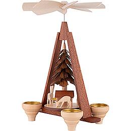 1-Tier Pyramid - Deer - 29 cm / 11 inch