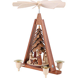 1-Tier Christmas Pyramid - Nativity Scene - 29 cm / 11 inch