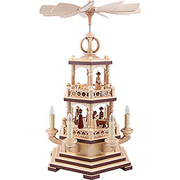 2-Tier Pyramid - The Christmas Story - 48 cm / 19 inch - 120 V Electr. Motor (US-Standard)