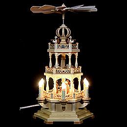 3-stöckige Pyramide Heilige Geschichte - 50 cm - 230 V Elektromotor