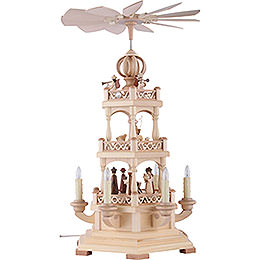 3-Tier Pyramid - The Christmas Story - 50 cm / 20 inch - 120 V Electr. Motor (US-Standard)