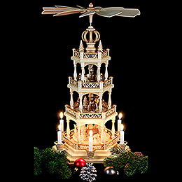 4-Tier Pyramid - Forest Scene - 55 cm / 22 inch