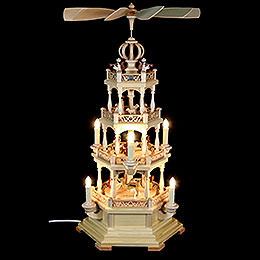 4-stöckige Pyramide Heilige Geschichte - 64 cm - 230 V Elektromotor