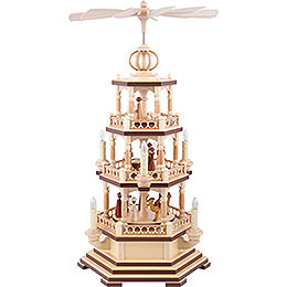 3-Tier Pyramid - The Christmas Story - 58 cm / 23 inch - 120 V Electr. Motor (US-Standard)