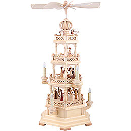 4-Tier Pyramid - The Christmas Story - 64 cm / 25 inch - 120 V Electr. Motor (US-Standard)