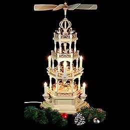 4-stöckige Pyramide Heilige Geschichte - 64 cm - 120 V Elektromotor (US-Norm)
