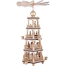 4-stöckige Weihnachtspyramide - Heilige Geschichte - 64 cm