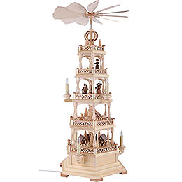4-Tier Pyramid - Forest Motif - Electrical - 71 cm / 28 inch