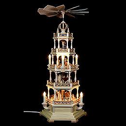 4-stöckige Pyramide Waldmotiv - elektrisch 120 Volt (US-Norm) - 71 cm