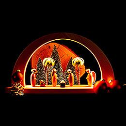 Moderner Lichterbogen Christi Geburt - farbig - 26x49 cm