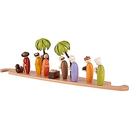 Theme Platform for Modern Light Triangle - Holy Family - Colored - 49x12 cm / 19.3x4.7 inch