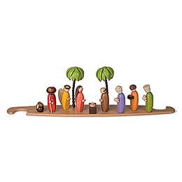 Motivplattform Heilige Familie farbig für Moderne Lichterspitze - 49x12 cm