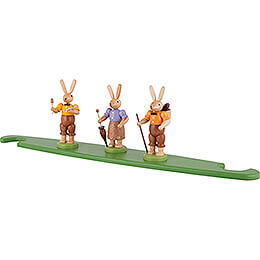 Theme Platform for Modern Light Triangle - Bunnies - Colored - 49x12 cm / 19.3x4.7 inch