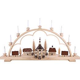 Candle Arch - Village Seiffen - 102 cm / 40 inch - 120 V Electr. (US-Standard)
