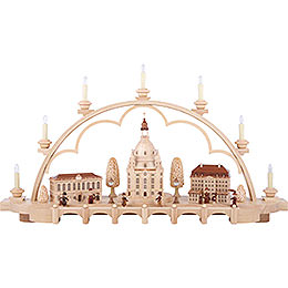 Candle Arch - Old Dresden - 80 cm / 31 inch - 120 V Electr. (US-Standard)