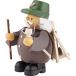 Räuchermännchen Waldarbeiter - grau - 14 cm