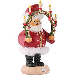 Räuchermännchen Weihnachtsmann mit Kerzenbogen 18 cm