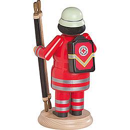 Räuchermännchen Rotkreuz-Sanitäter mit Trage - 24 cm