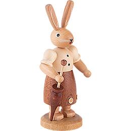 Hasenfrau naturfarben - 11 cm