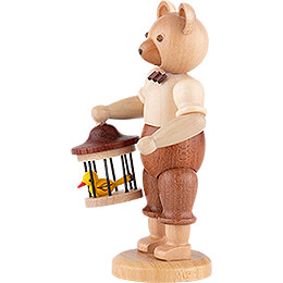 Bear with Bird Cage - 10 cm / 4 inch