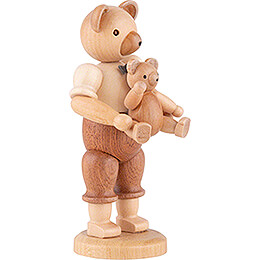 Bear Father with Child - 10 cm / 4 inch