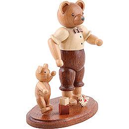 Bärvater mit Kind - 10 cm