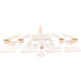 Handicraft Set - 1-Tier Pyramid - Fir Tree - 26 cm / 10.2 inch