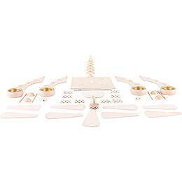 Bastelset 1-stöckige Pyramide - Baumpyramide mit Mittelbaum - 26 cm