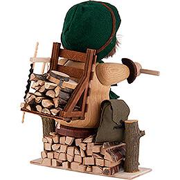 Räuchermännchen Waldarbeiter - 17 cm
