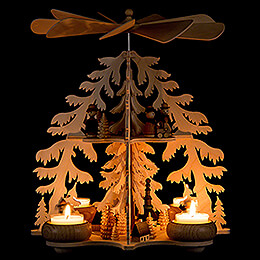 2-Tier Pyramid - Fir Forest - Seiffen Village - 28 cm / 11 inch