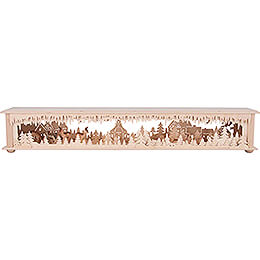 Illuminated Stand - Forest Seiffen with Deer - 80x12 cm / 31.5x4.7 inch