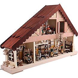 Lichterhaus Erzgebirgswerkstatt - 60x38 cm