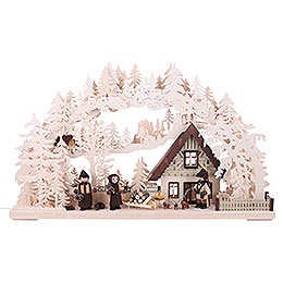 3D Double Arch - Ranger with Drilled Figures - 72x43x8 cm / 28x17x3 inch