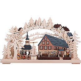 Candle Arch - Pyramid House with Turning Pyramid - 72x43 cm / 28x17 inch