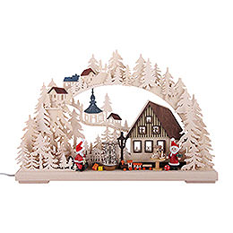 3D Double Arch - Santa Claus Workshop - 43x30x7 cm / 17x11x3 inch